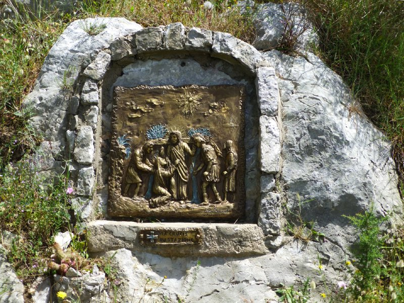 Along the path, we find these <br />Stations of the Cross
