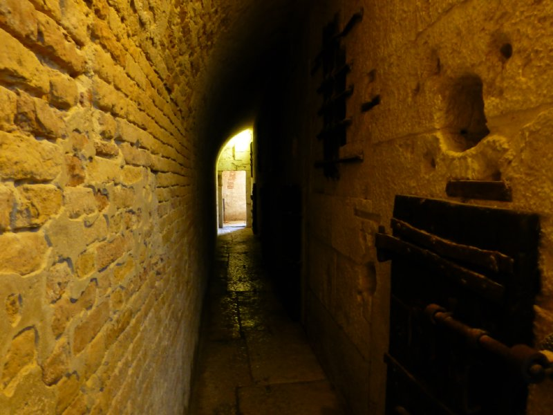 Corridor to the lowest levels of the prison