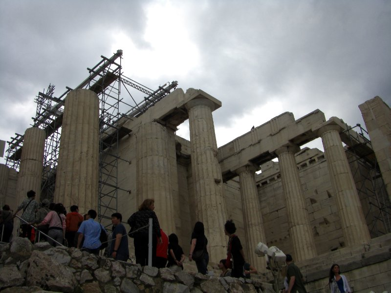 Climbing up to the Acropolis