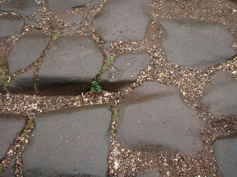 Grooves worn in the Stones