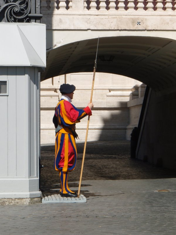 Swiss Guard at the entrance to Vatican City proper