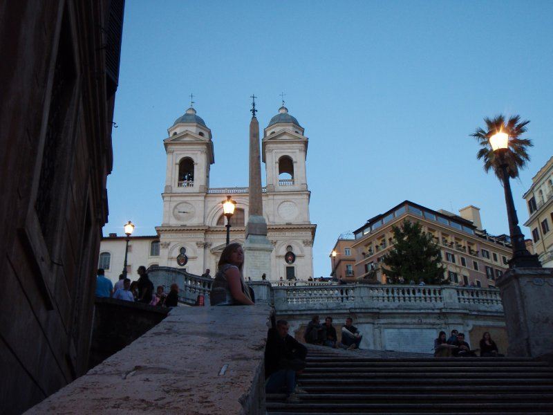Dusk at the Spanish Steps