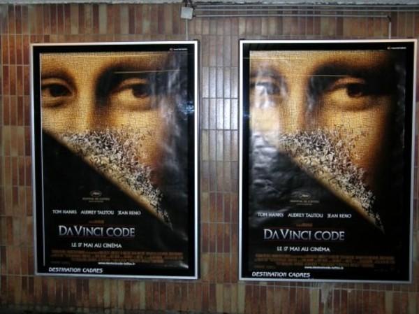 Da Vinci Code Poster in Paris Metro Station