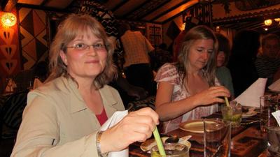03022012 4 Susie at the Carnivore Restaurant in Nairobi
