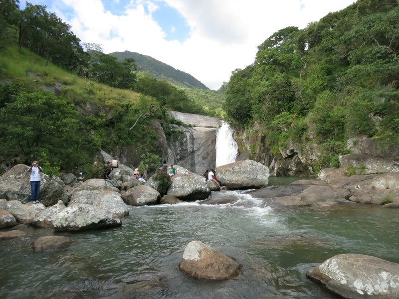 Likhubula River waterfall