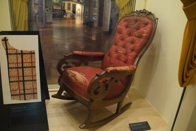 Chair from Ford's Theatre -Lincoln was shot sitting in this chair