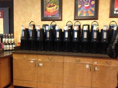 Coffee choices at Wegmans