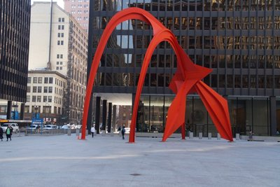 The Flamingo sculpture - Dearborn Street Chicago