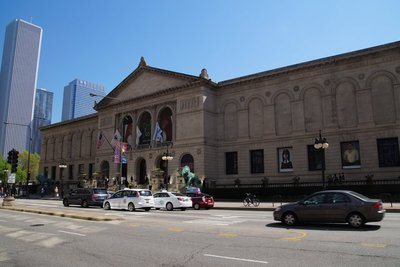 Chicago Art Gallery -the lions speak (apparently) when a virgin walks past