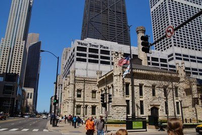 The Water Tower Buildings -one of the few buildings that survived the disastrous fire of 1871 that destroyed much of Chicago