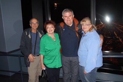 Philip, Julie, David and Colleen on the Sky Deck 103 Floor Willis Tower