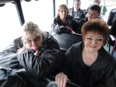 The girls on the DUKW