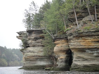 Hog Rock on the is Wisconsin River