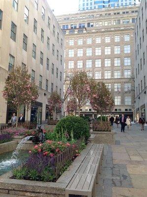 Channel Garden in the Rockefeller Center
