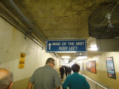 Pathway through tunnel to Maid of the Mist boat ride to bottom of the falls