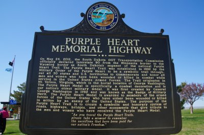 Purple Heart Memorial Highway crosses 50 states to commemorate Badge of Military Merit struck by Washington in 1782