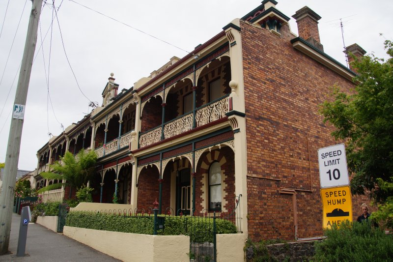 1800s terrace houses in St John Street, Launceston