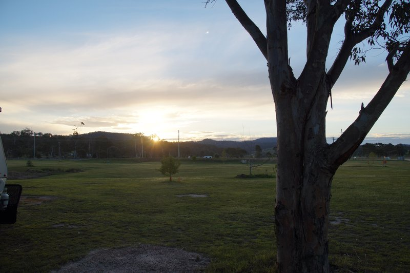 View from our Wednesday night stop at the Merimbula Caravan and Motorhome RV Park