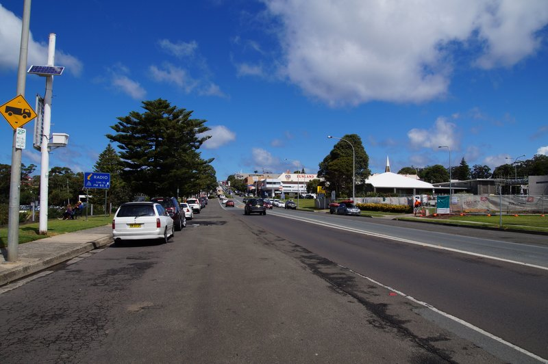 View of a peaceful Main Street at Ulladulla, NSW