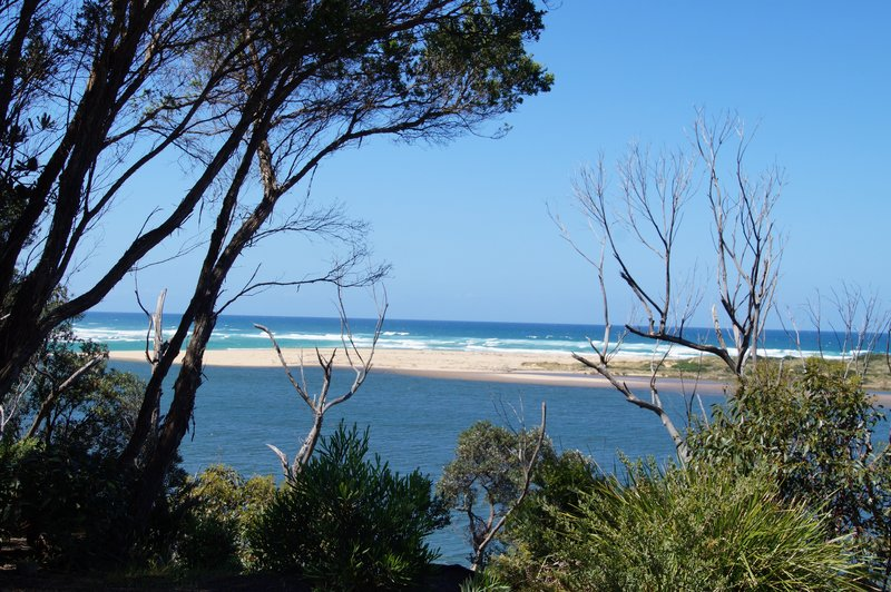 Snowy River Estuary - the Snowy River meets the ocean at Marlo, Victoria