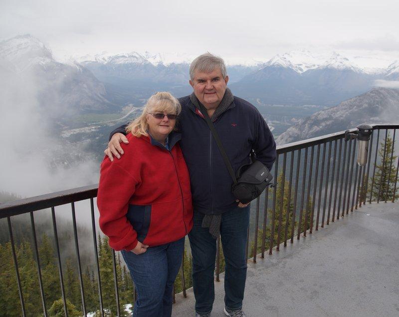 David and Colleen on Sulphur Mountain