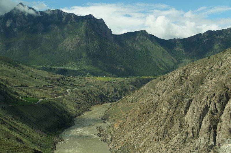 Arid valley with Fraser River