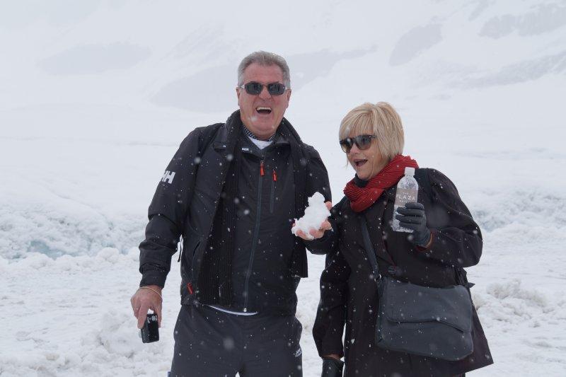 Athabascar GlacierGreg and Deb on the ice