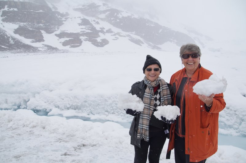 Athabascar GlacierJean and Marie on the ice