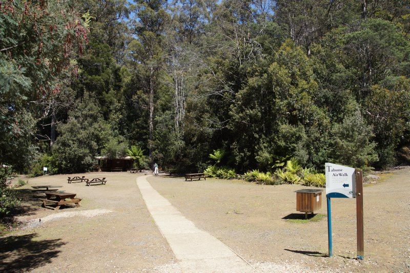 Beginning of Tahune Forest Air Walk