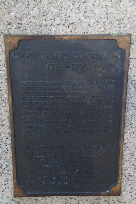 Captain Cook plaque