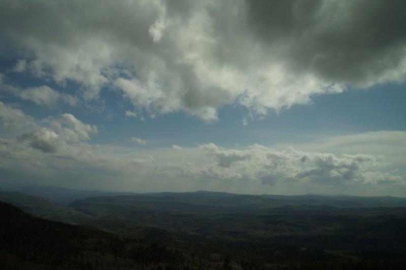 Cedar Breaks National Monument - road is 9700 feet altitude