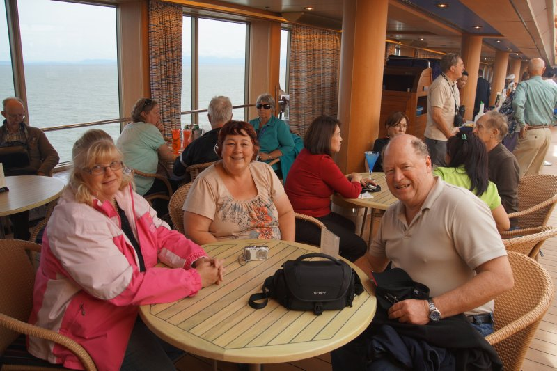 Colleen, Sharon and Gary on the Lido Deck MS Volendam