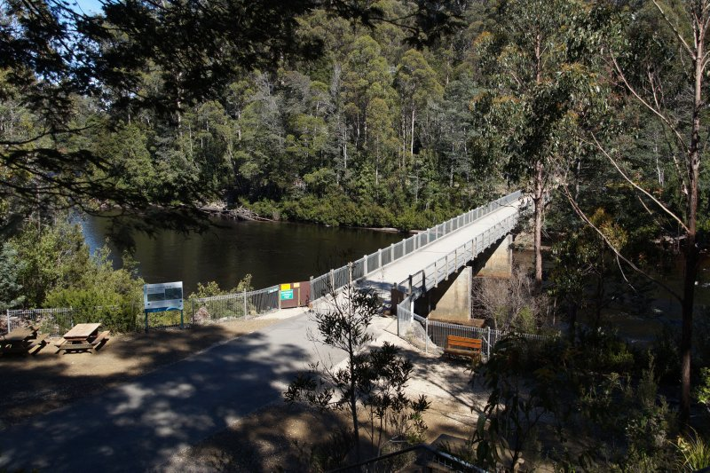 Crossing over the Huon River at Tahune Forest
