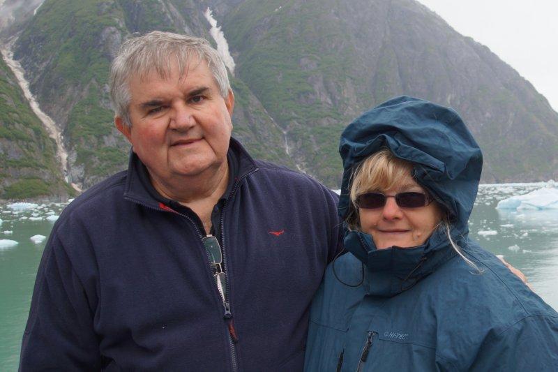 David and Colleen at  Sawyer Glacier