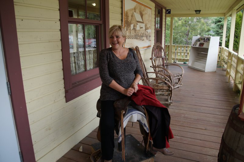Deb in the saddle at  Hat Creek Ranch 1861