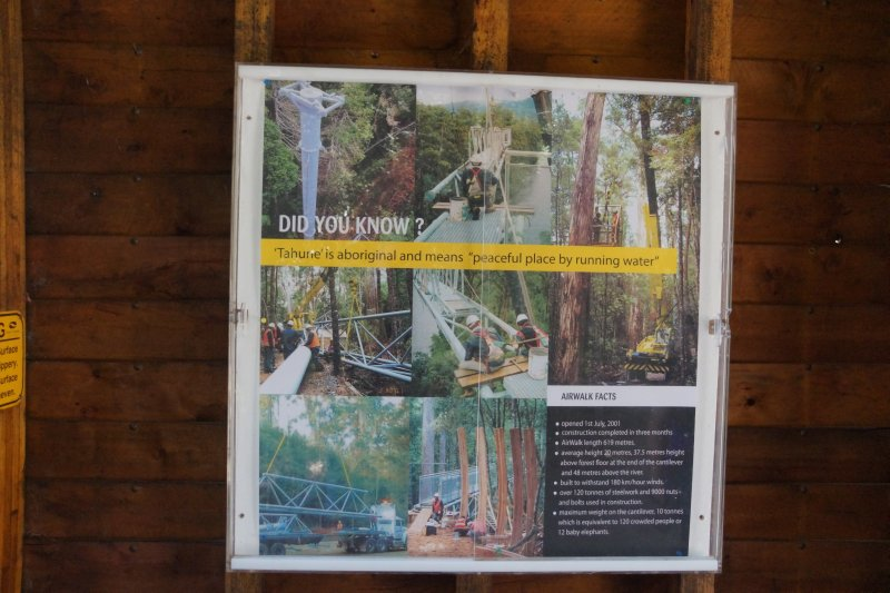 Did you know signage at the Tahune Forest Airwalk