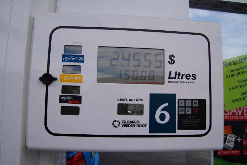 Diesel fill up at Sorell