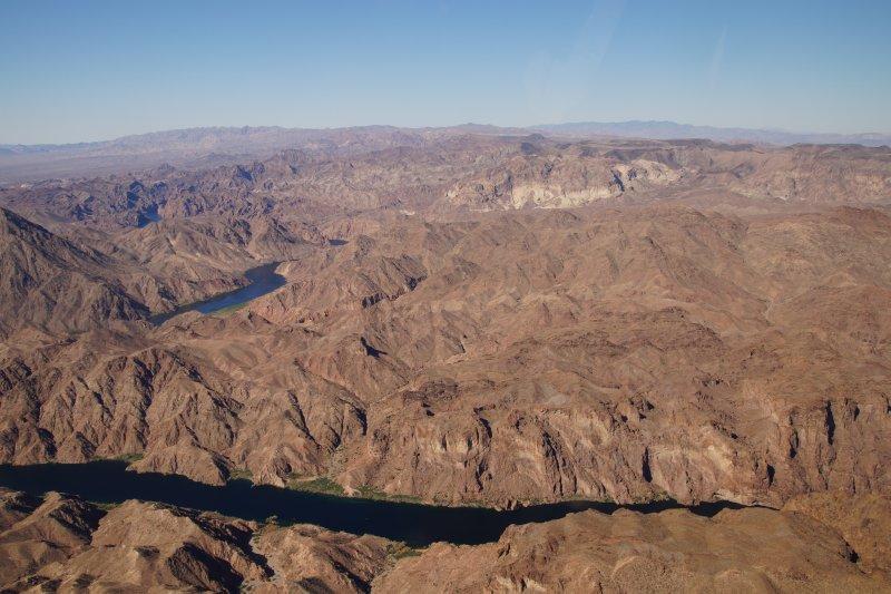 Flying back to Boulder City over Indian lands