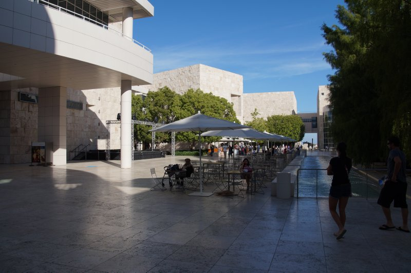 Getty Centre  museum courtyard