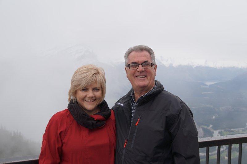 Greg and Deb on Sulphur Mountain