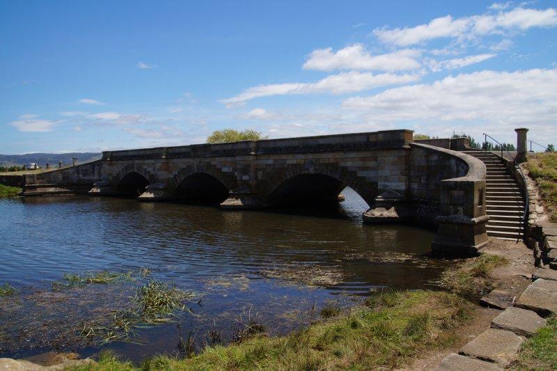 Historic 1836 bridge at Ross is still in use
