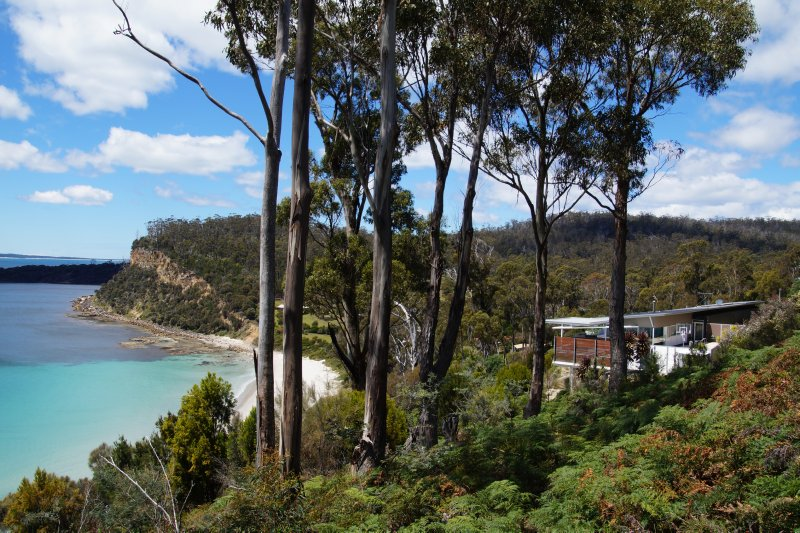 House with a view towards Maria Island
