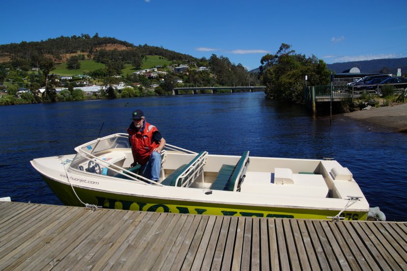 Huon Jet Boat 5.6m powered by a 5.7 V8 Chev motor