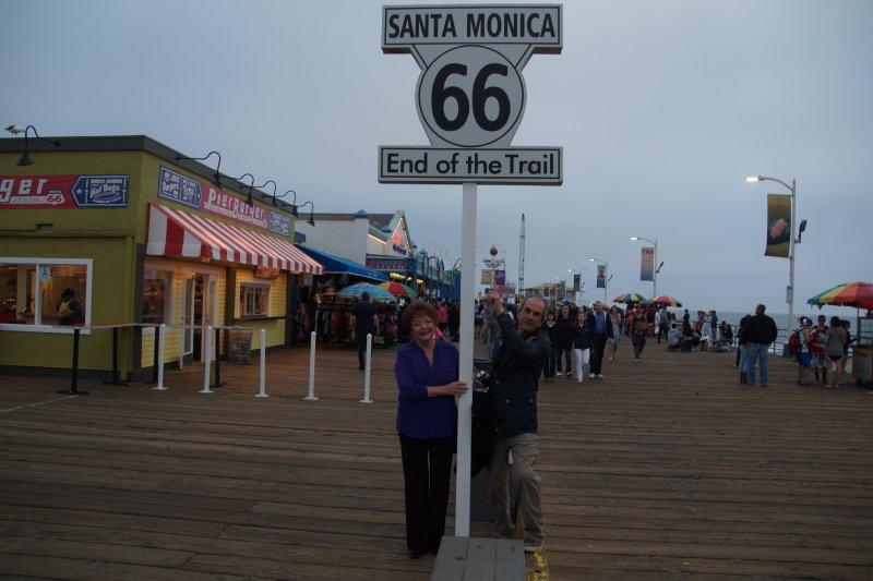 Julie & Philip at Santa Monica Beach, LA 1