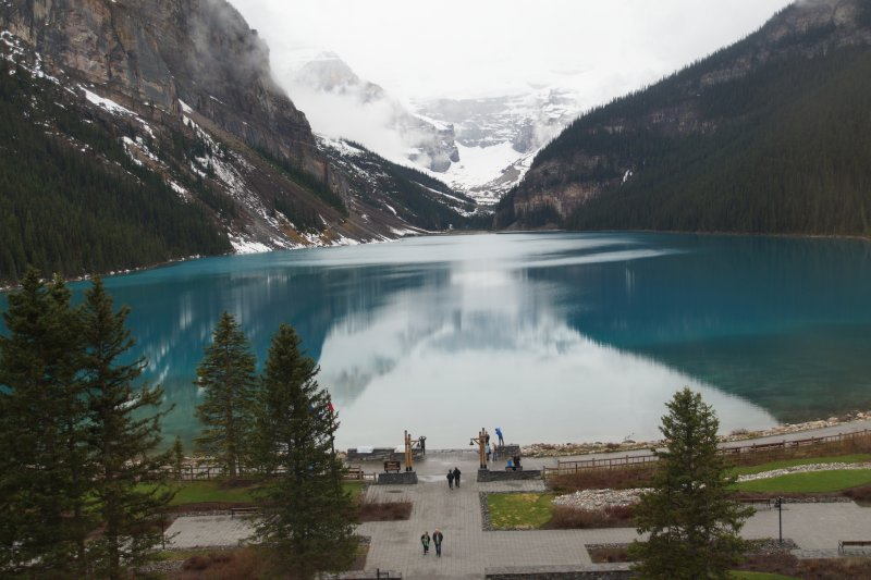 Lake Louise early morning view from our room