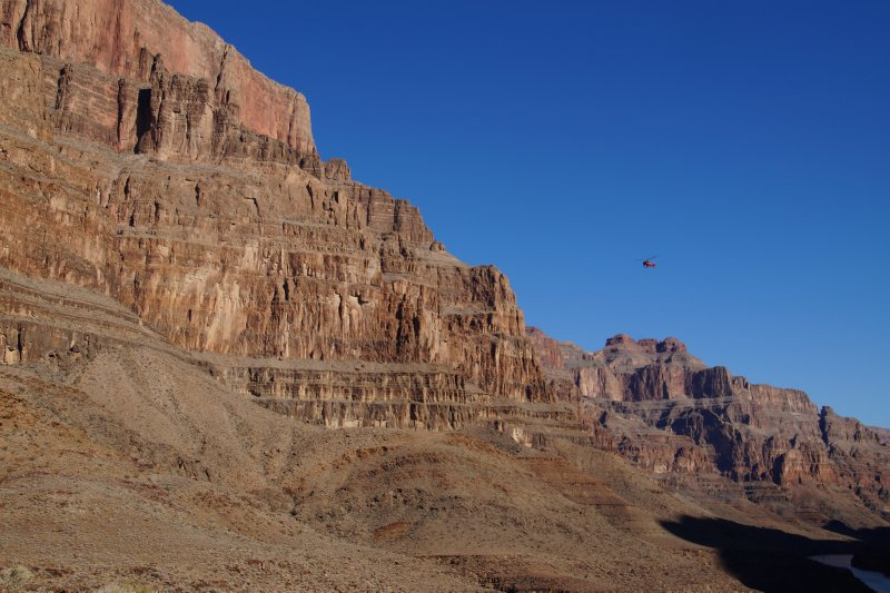 Landed beside the Colorado River Grand Canyon