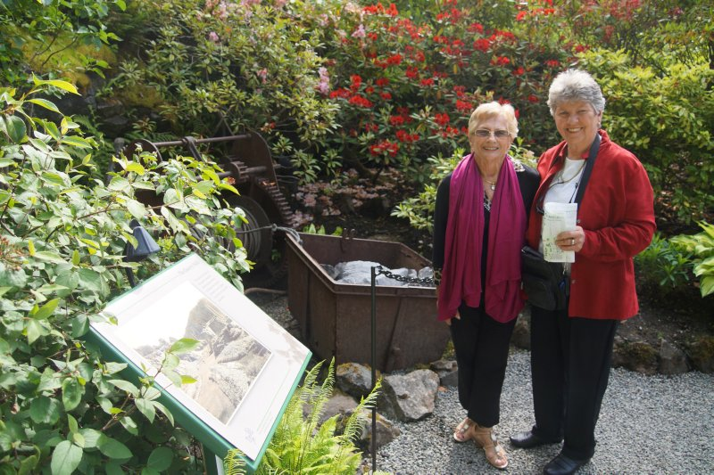 Marie and Jean at  Sunken Garden at  The Butchart Gardens