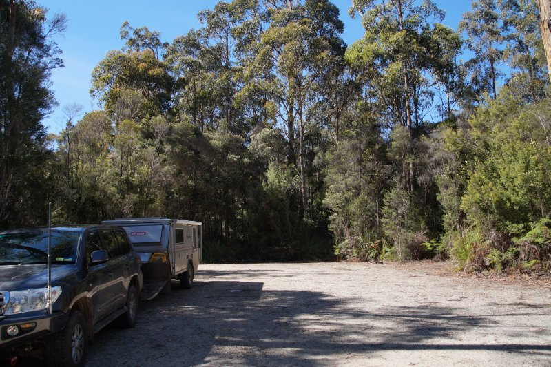 Our camp site at Tahune Forest Air Walk