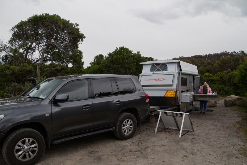 Our campsite at Friendly Beaches, Freycinet National Park