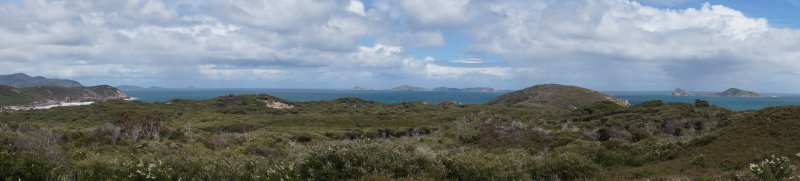 Panorama view from Glennie Lookout, Wilsons Promontory